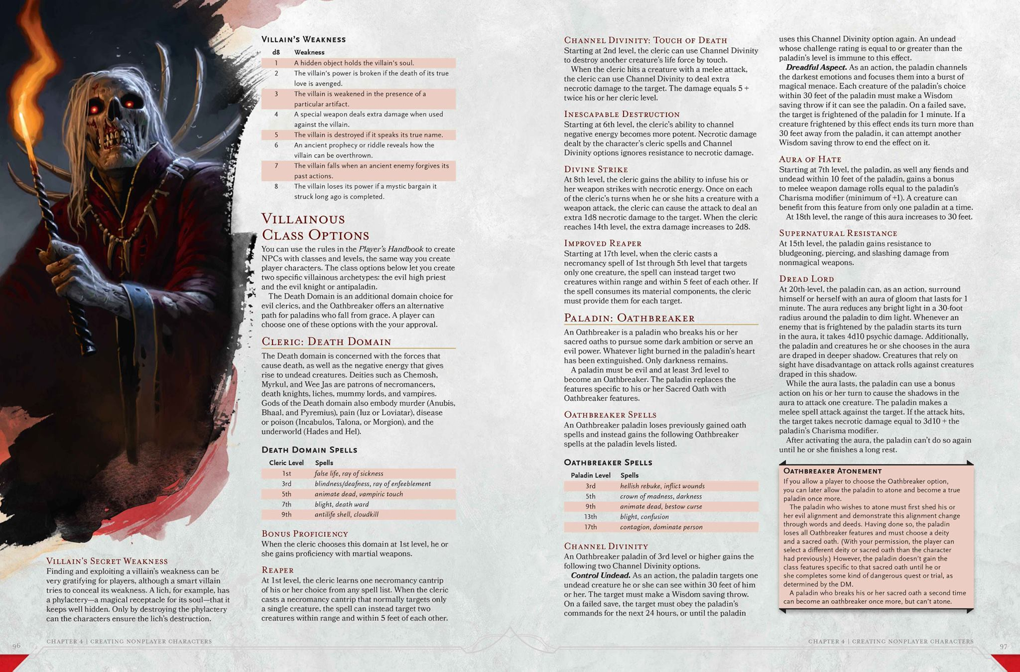 5E Death Domain and Oathbreaker preview