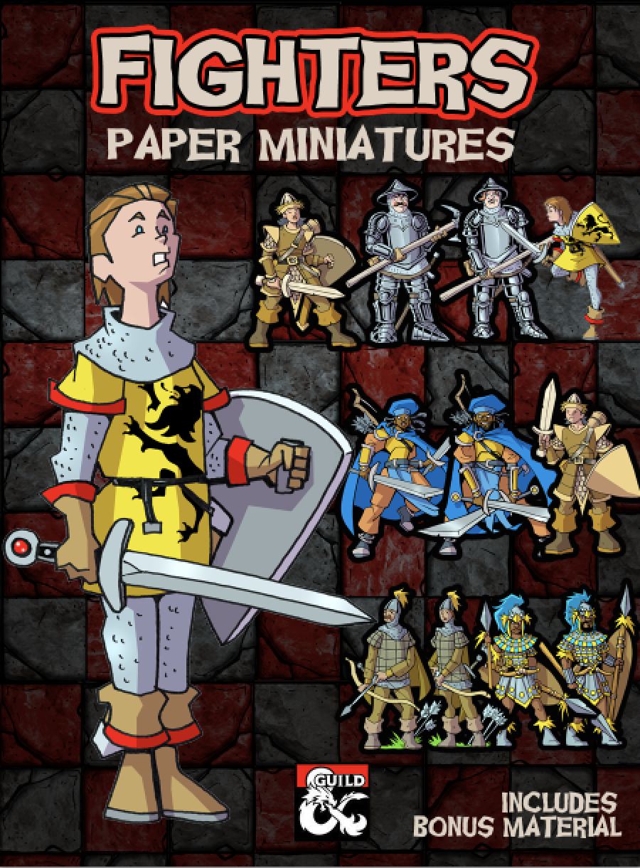 It is a photo of Adaptable Printable Paper Miniatures