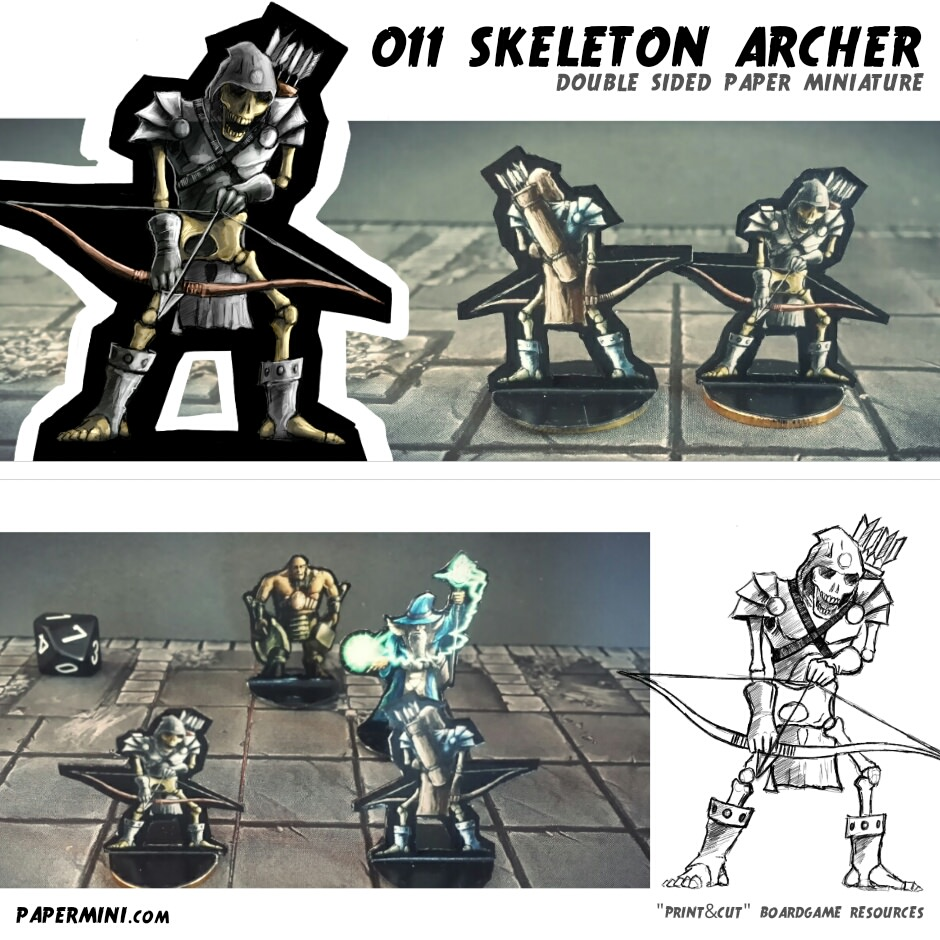graphic relating to Printable Paper Miniatures called Paper Miniatures for your strategies Morrus Unofficial