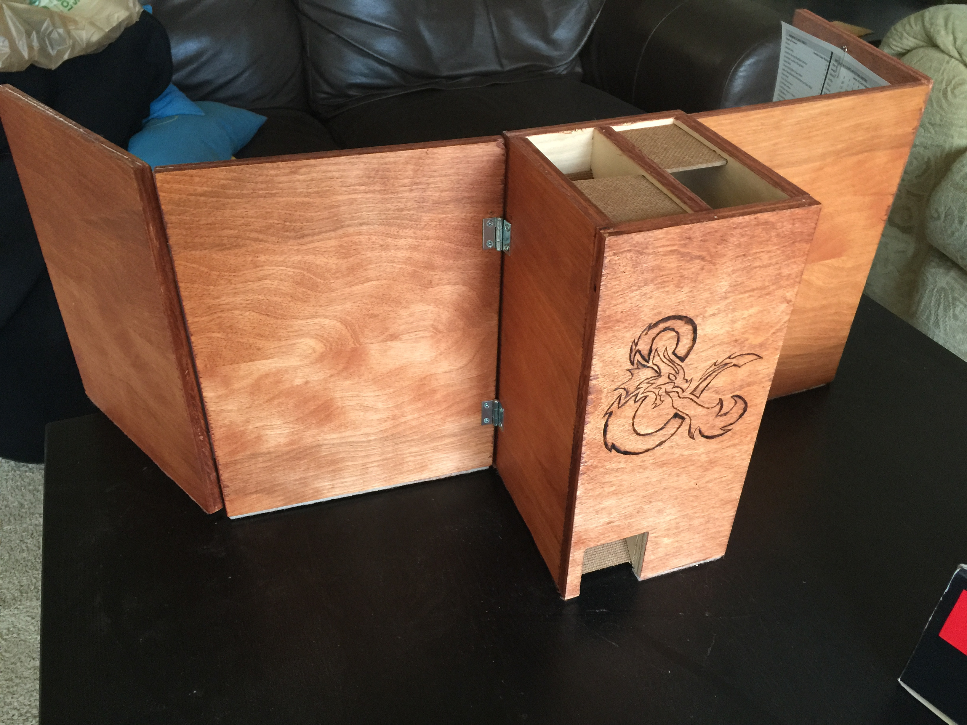 Wooden Dm Screen Amp Dice Tower