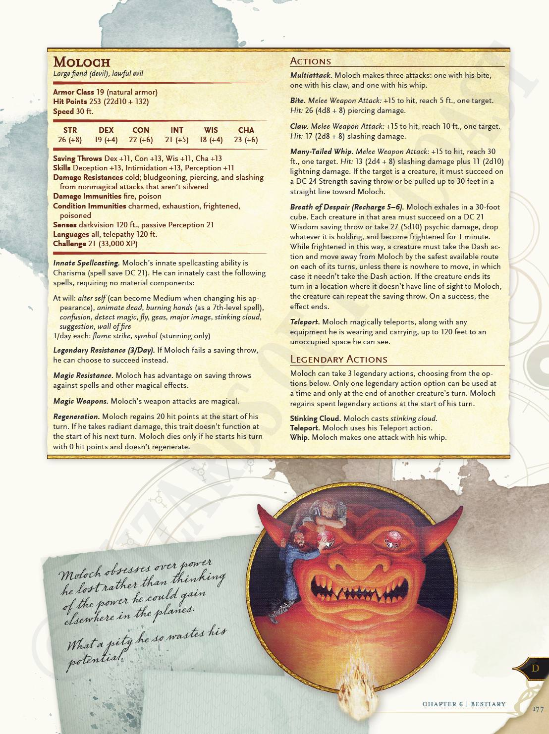 Archdevil Moloch Mordenkainens Tome Of Foes Preview From Dragon