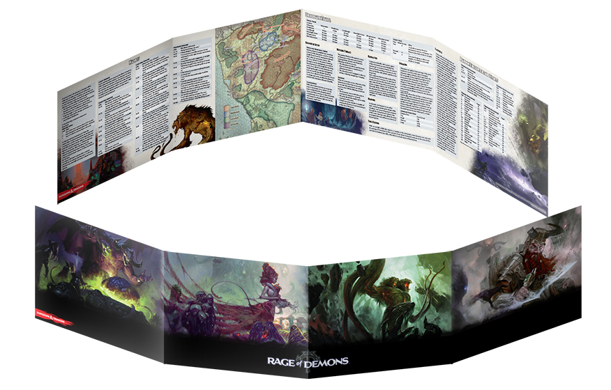 photograph relating to Printable Dm Screen 5e Pdf named Gale Tension 9 Releases Out of the Abyss DM Display screen Contemporary