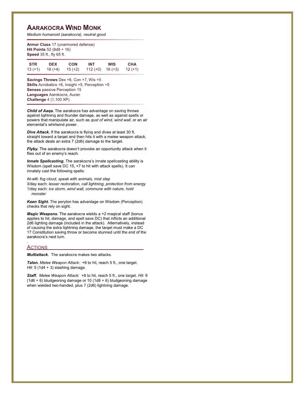 Homebrew 5e Hardcore: Monster Manual - Page 2