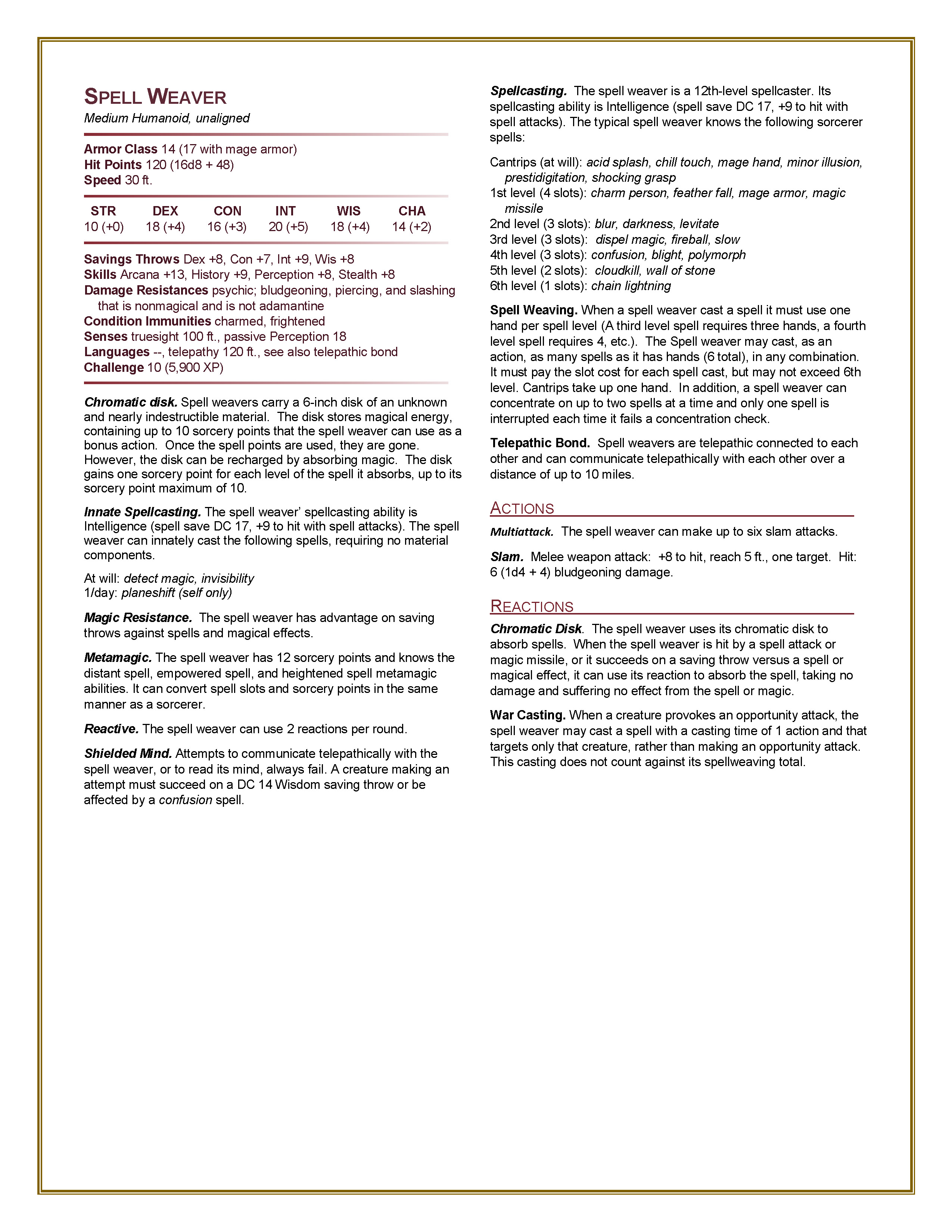 5e Hardcore: Monster Manual | Morrus' Unofficial Tabletop