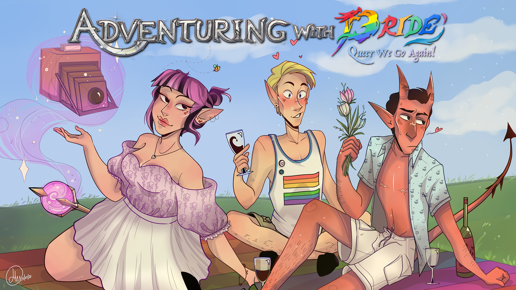 Adventuring with Pride- Queer We Go Again! LGBT+ DnD 5E Book.png