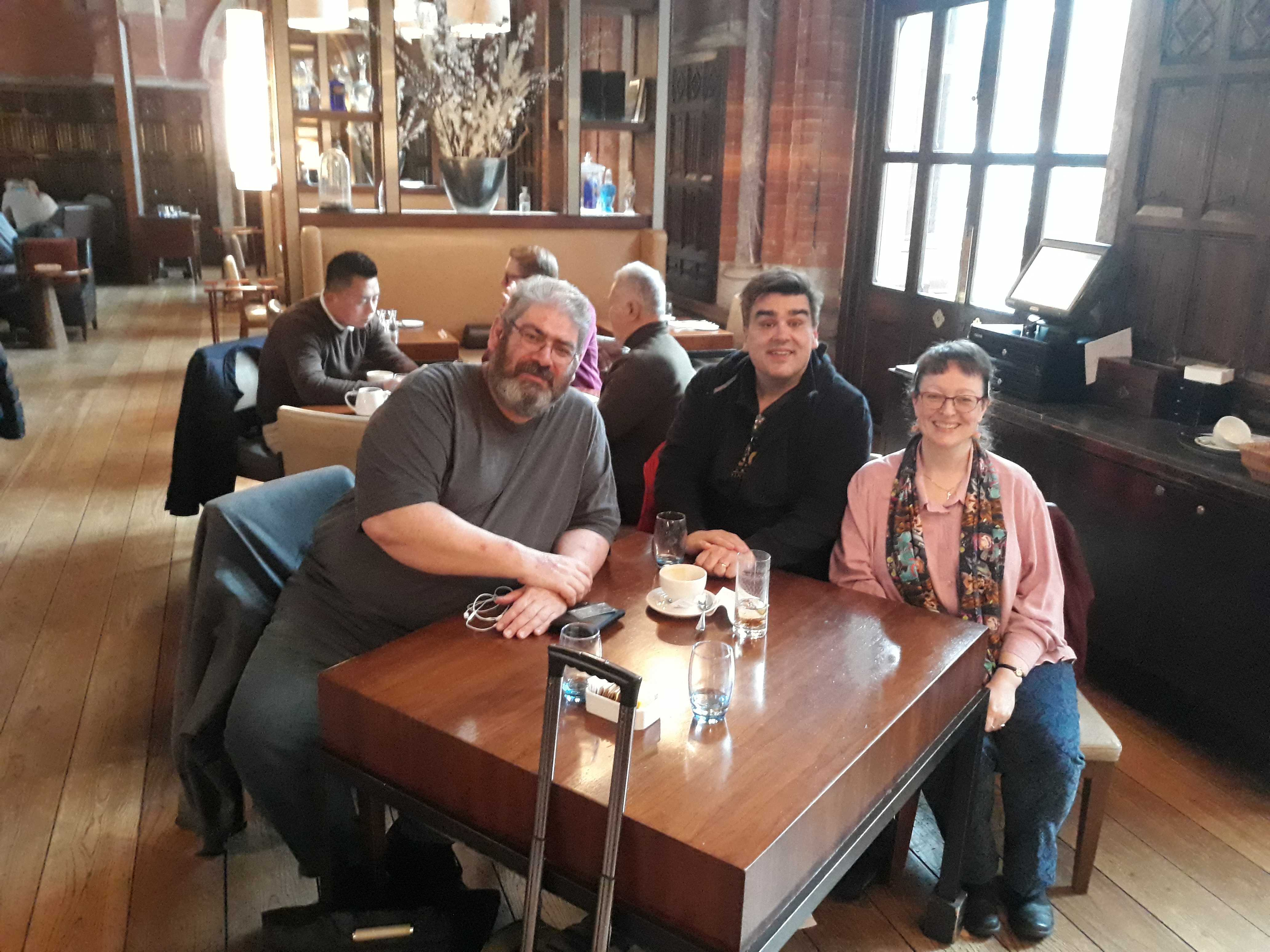 Ben, MOB and Lynne at The Booking Office April 2019.jpg