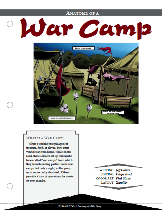 Anatomy of a War Camp (5E & Pathfinder)