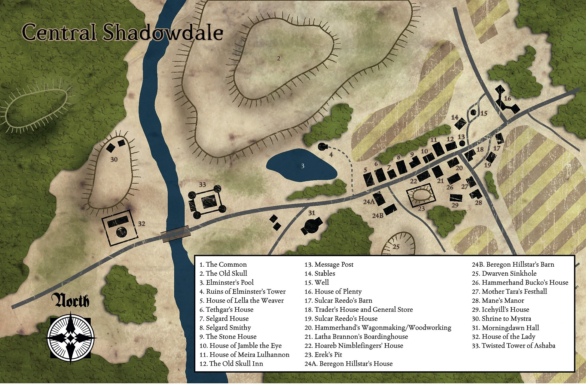 Central Shadowdale (or the Village of Shadowdale)