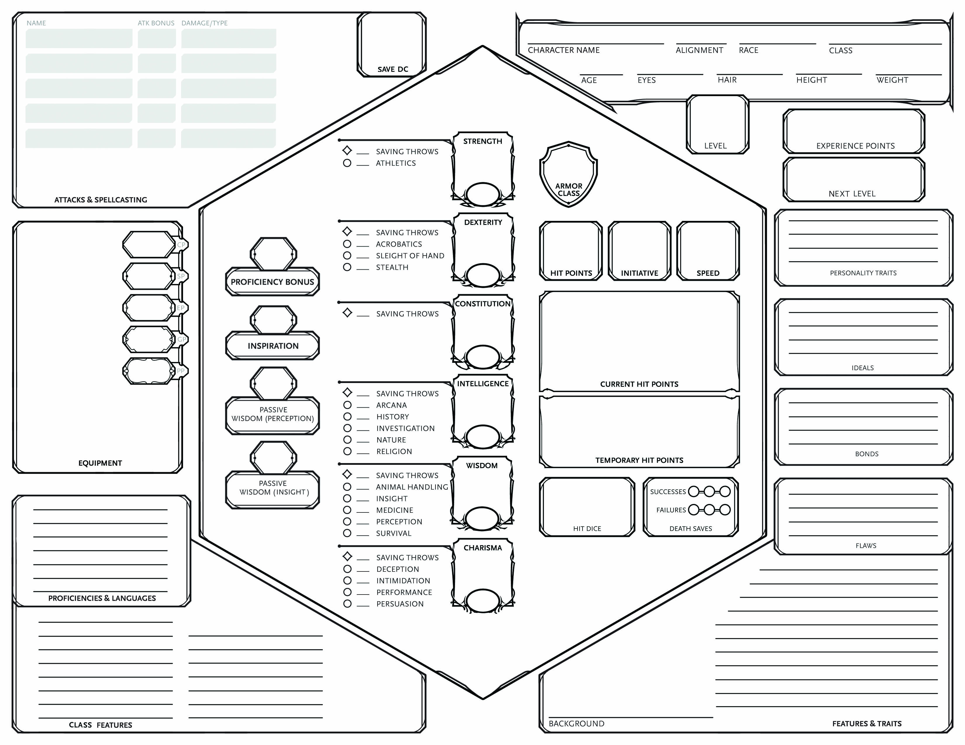 Homebrew Remixing The Character Sheet