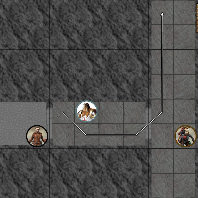 Corridor Fight -  Round 18 Xander uses Swift Fly and Tumbles in the air.png