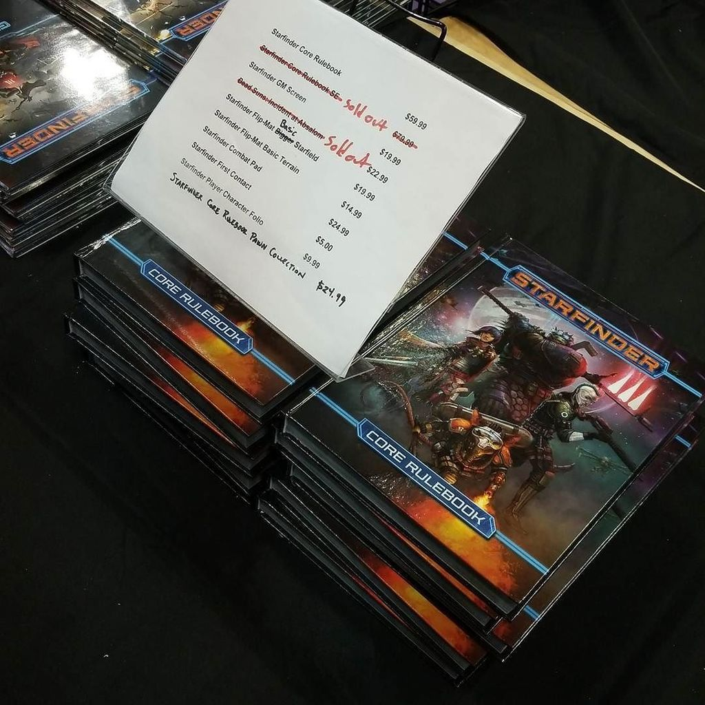 Starfinder sold out all core books