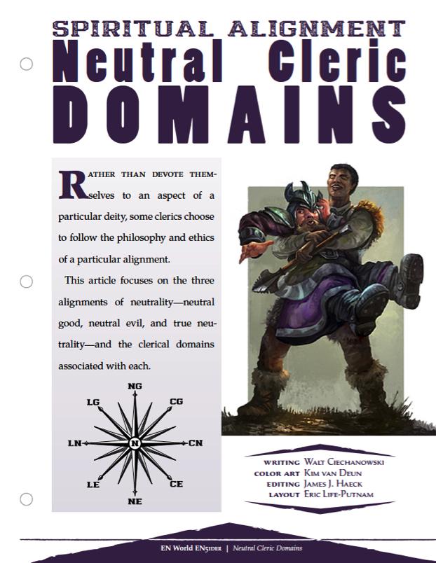 Spiritual Alignment: Neutral Cleric Domains   Morrus