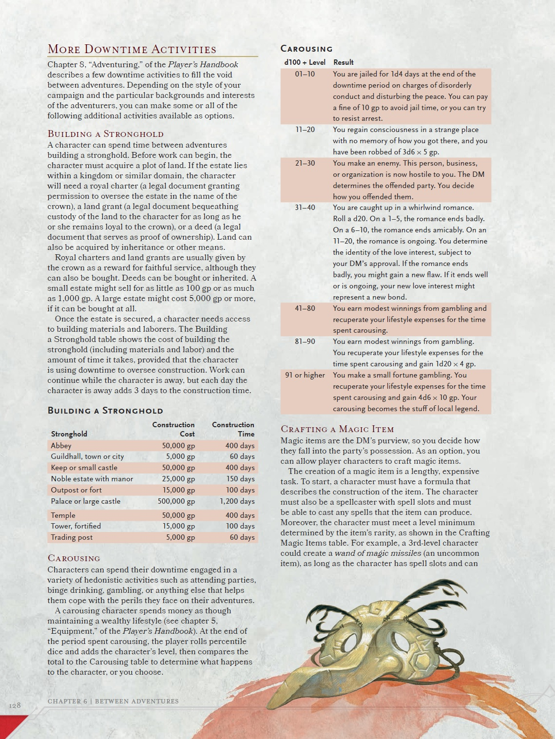 DUNGEON MASTER'S GUIDE Excerpt: Downtime Activities!