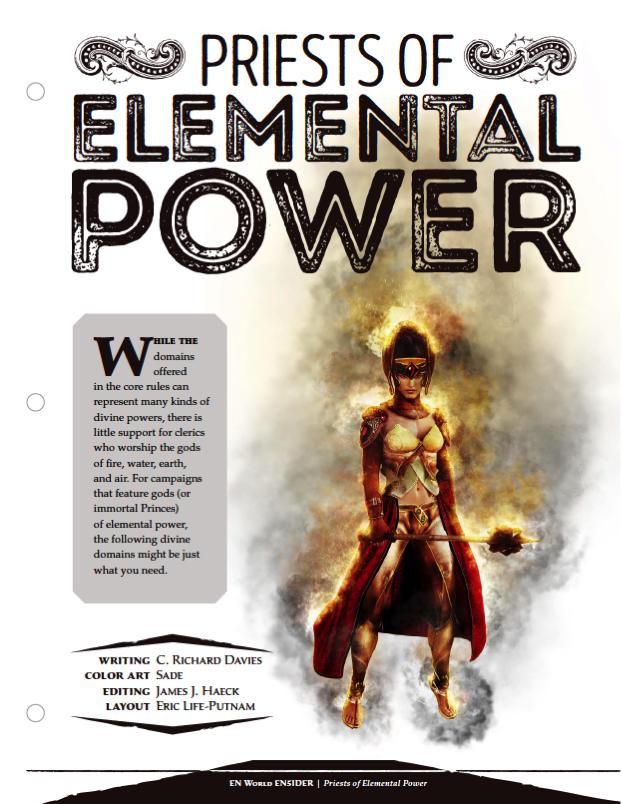 EN5ider #65] Priests of Elemental Power   Morrus' Unofficial