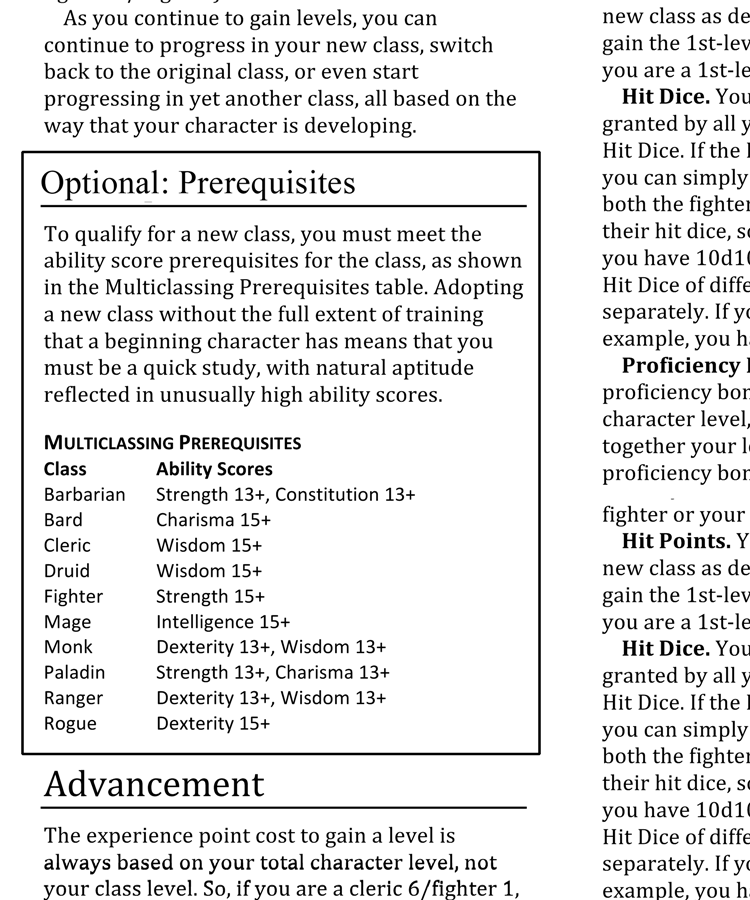 5e Ability Score Requeriments For Multicling Yay Or Nay Page 5