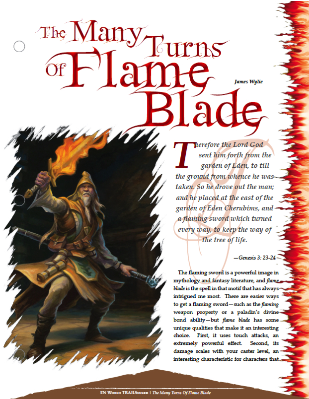 Trailseeker 44 The Many Turns Of The Flame Blade Dungeons Dragons Dragonlance Pathfinder The horde breaker ranger class feature does not qualify the extra attack made to a creature within 5 ft of you as a reaction, bonus, or attack of opportunity. the many turns of the flame blade