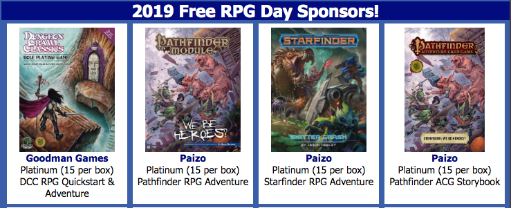 Your Guide to Free RPG Day 2019: Quick Reviews | Morrus