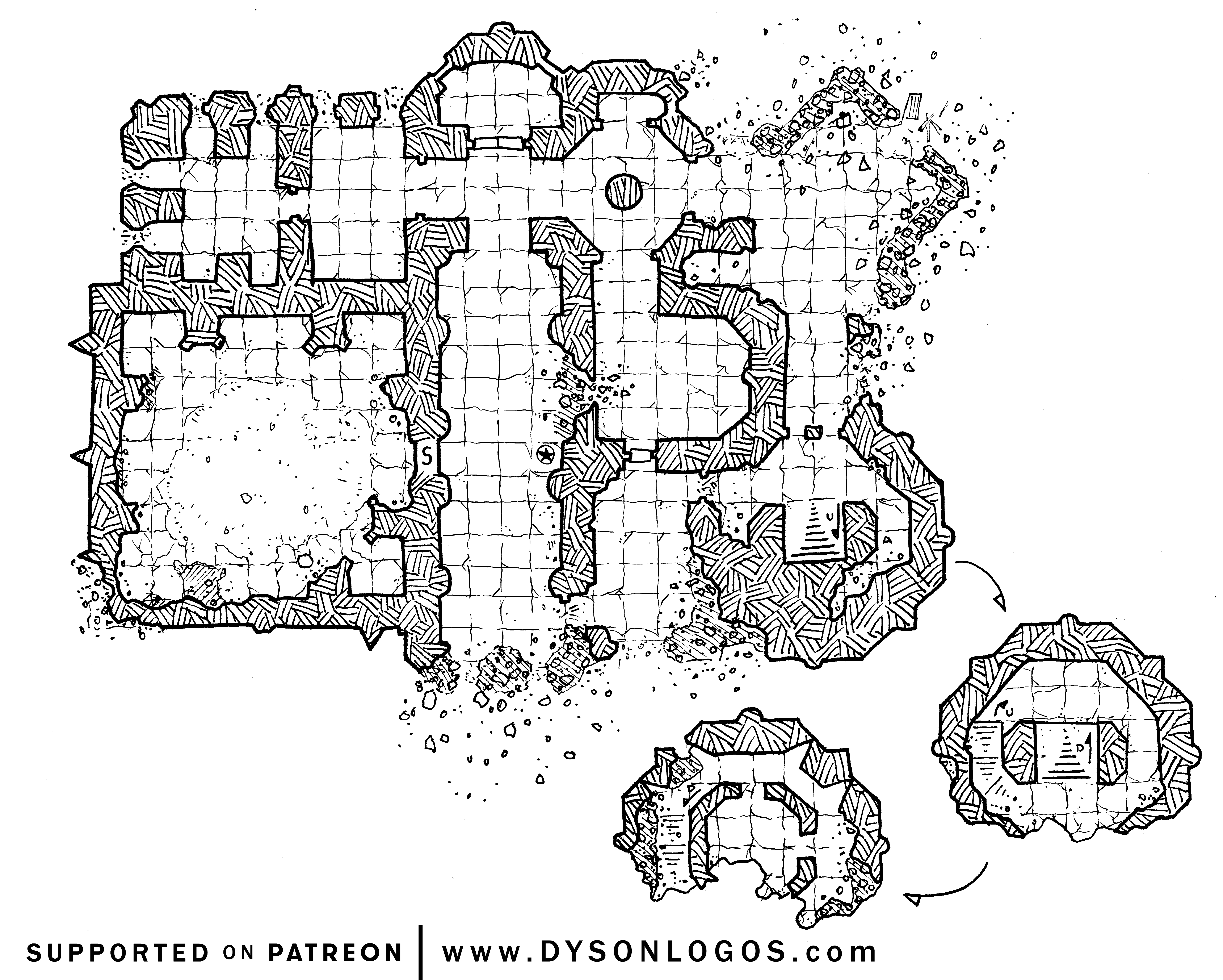 I draw the occasional D&D map Draw On Maps on
