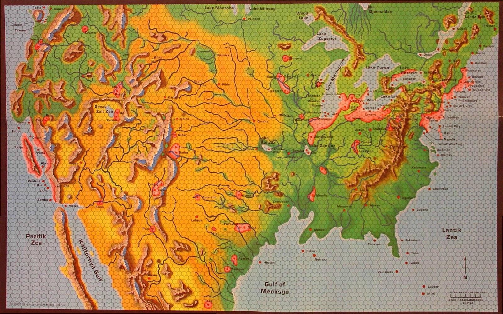 Official Dd World Map.5e An Atlas Of The D D Worlds