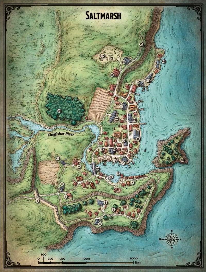 Sneak k At Ghosts of Saltmarsh Maps on