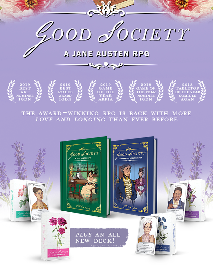 Good Society- A Jane Austen RPG - Reprint & New Deck.png