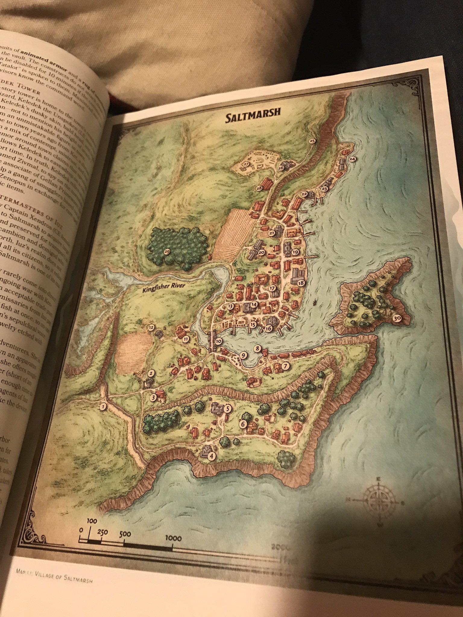 A Look Inside Ghosts of Saltmarsh: Contents, Saltmarsh Map, & More