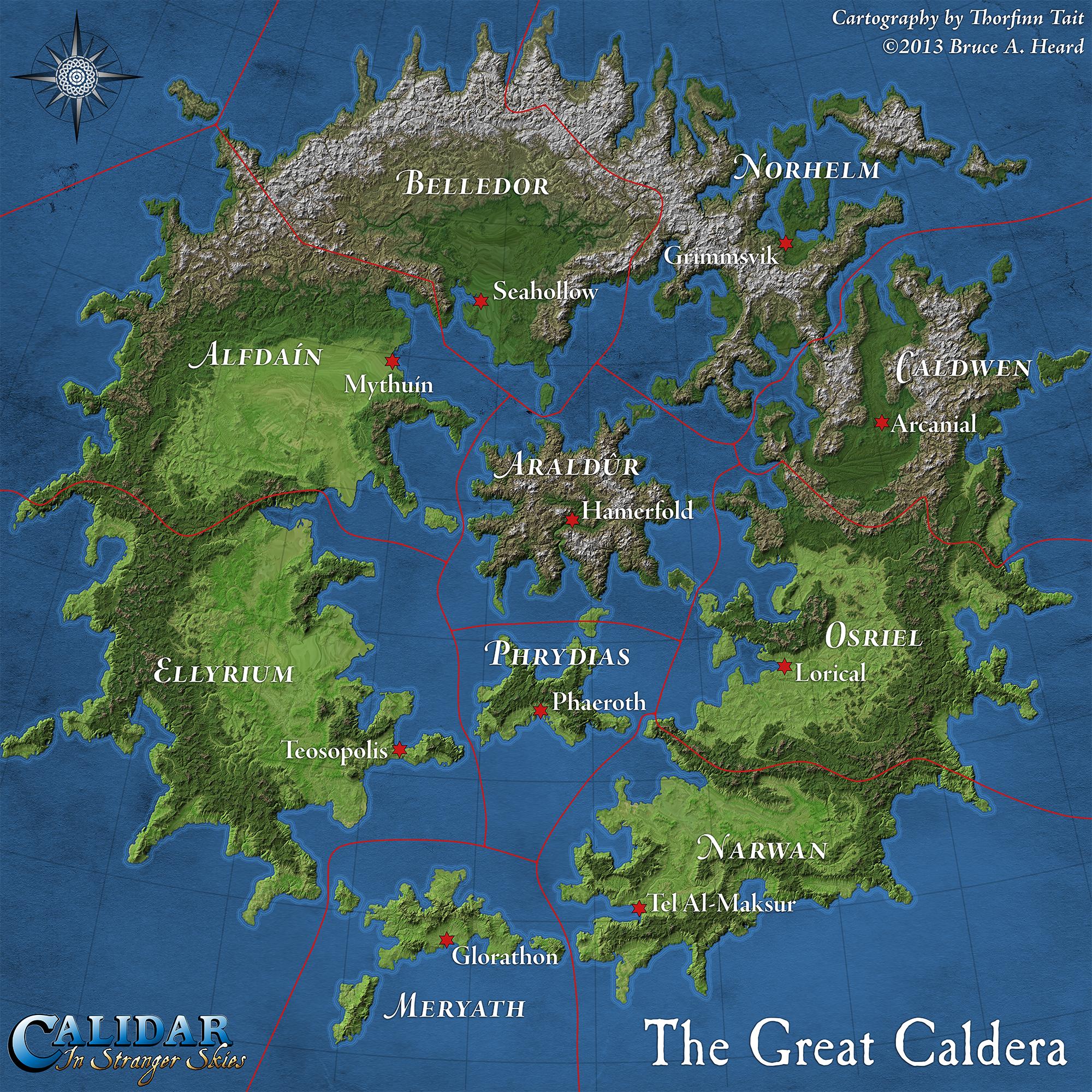 Dd 4e World Map.Calidar Maps For Bruce Heard S World Of Calidar