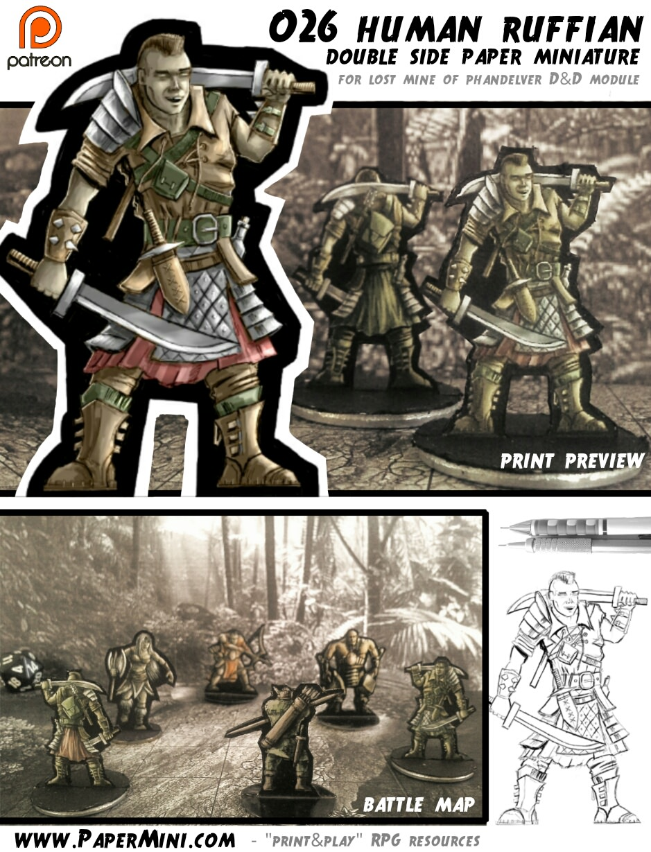 image relating to Printable Minis D&d named Paper Miniatures for your strategies Morrus Unofficial