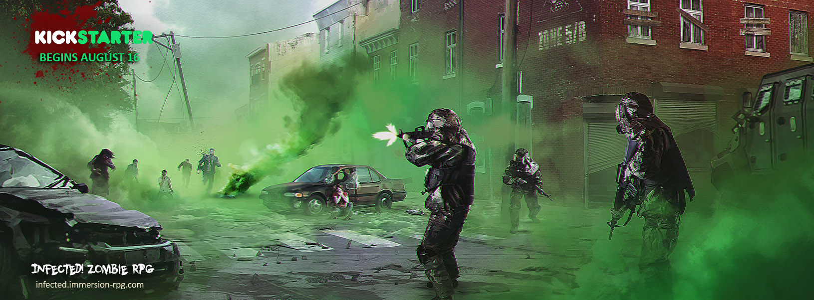 INFECTED ZOMBIE RPG coming to Kickstarter August 16