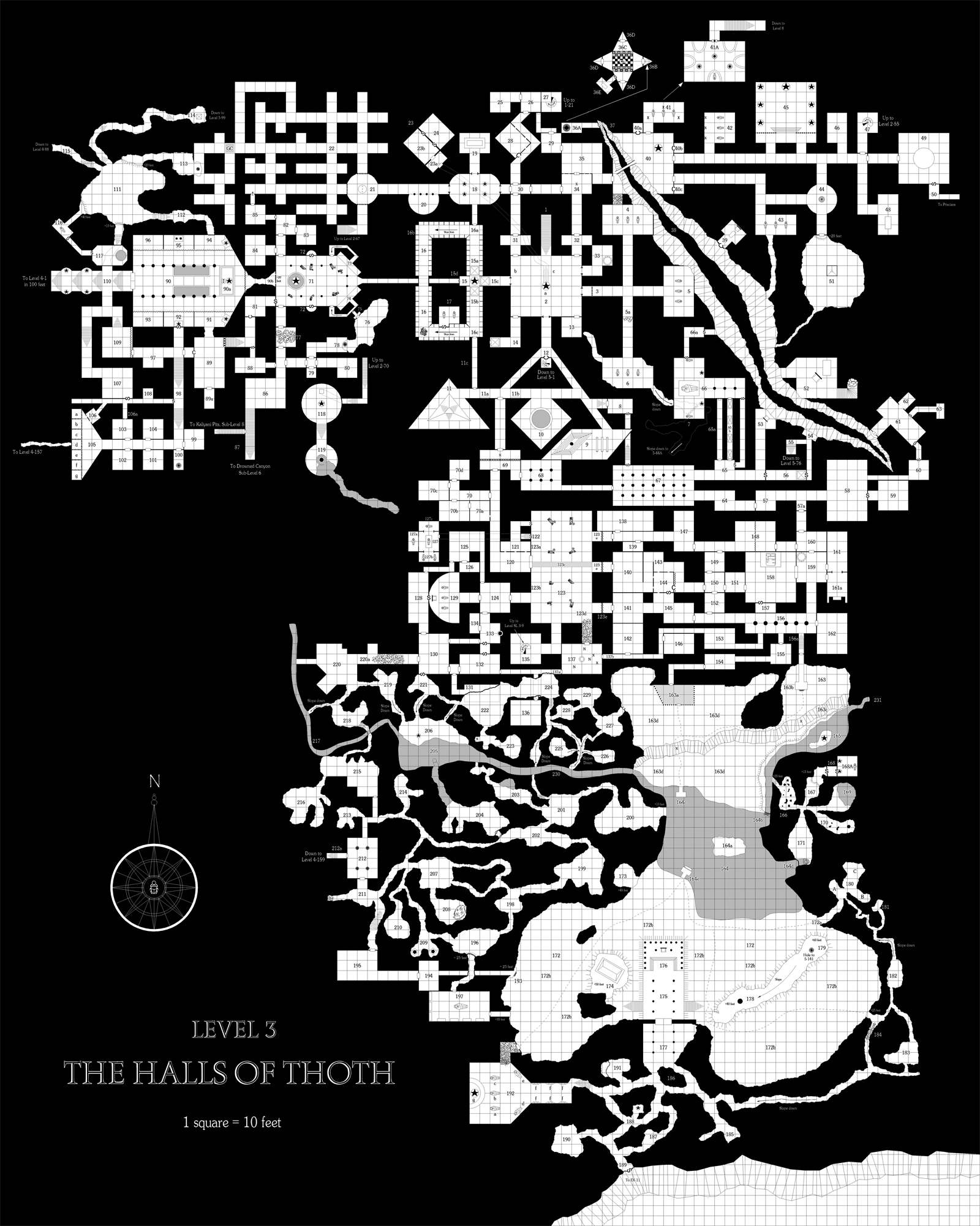 Level 3 - The Halls of Thoth B&W for blog.png