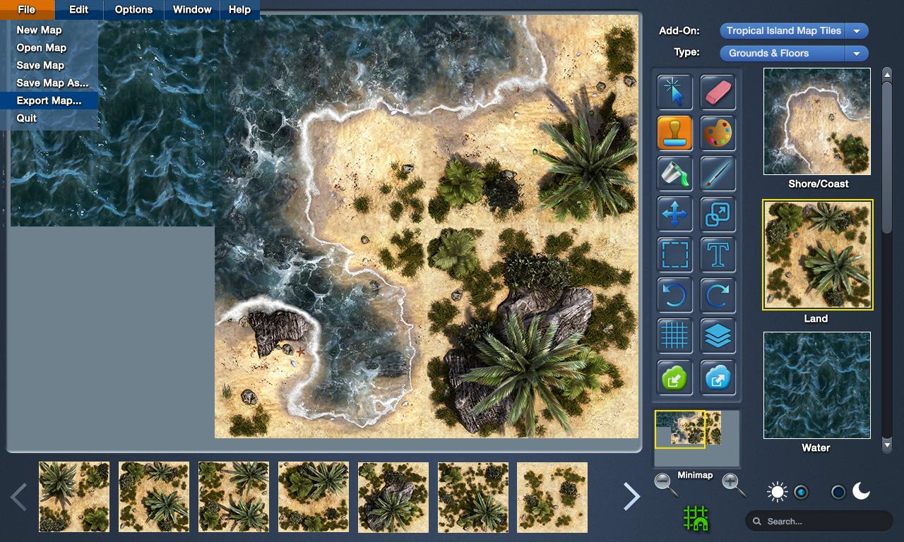 Kickstarter map forge a battle map making program like dundjinni name mapforge interface mockup v2 menug views 1960 gumiabroncs Images