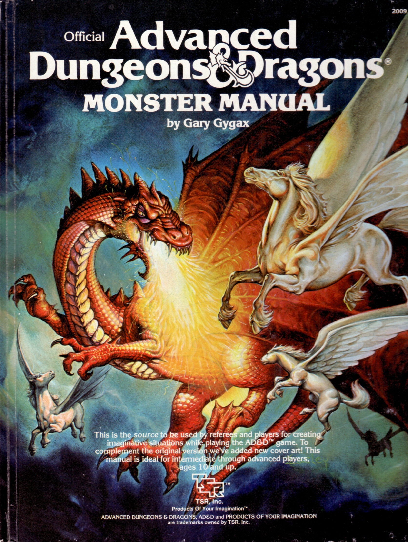 Painted Reproductions Of Original Advanced Dungeons Manual Guide
