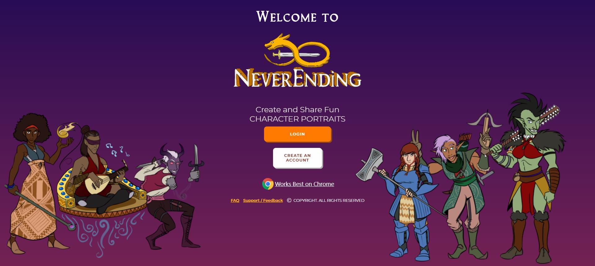 NeverEnding Main Screen.png