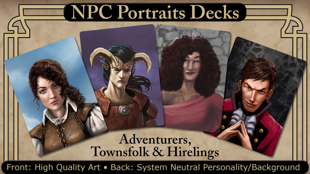 NPC Portraits Decks- Adventurers, Townsfolk, and Hirelings.png