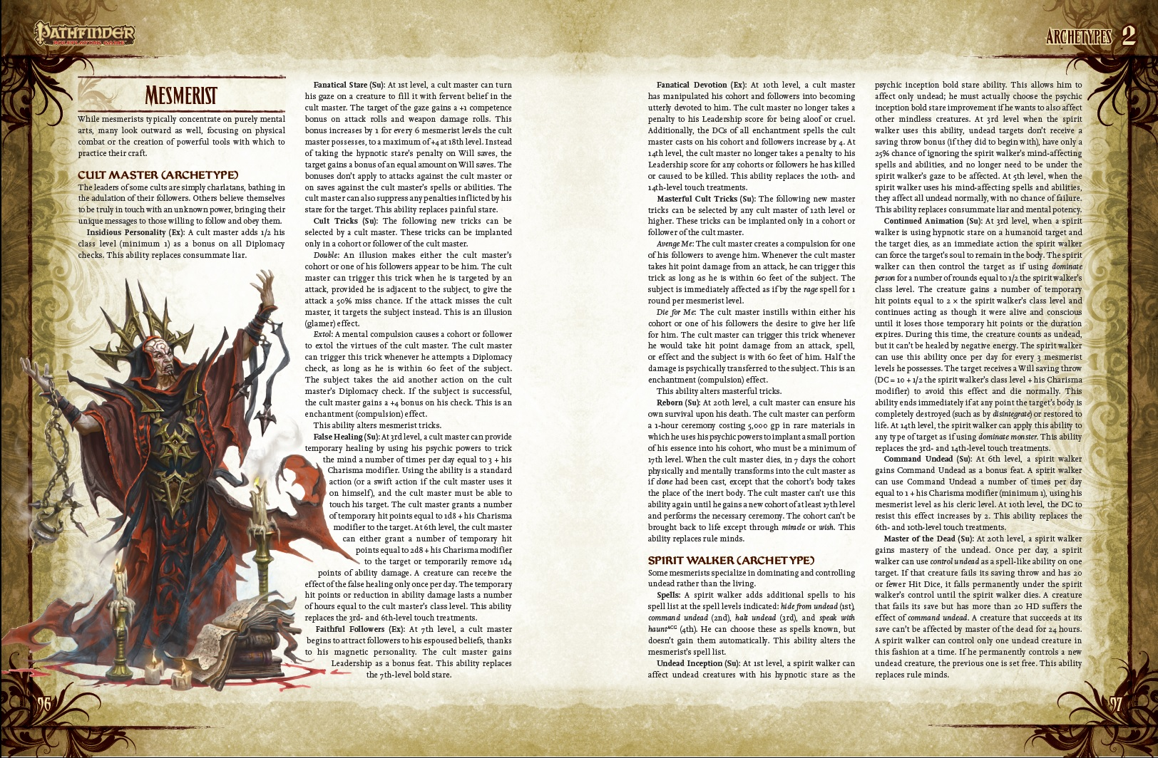 Exclusive OCCULT ADVENTURES Preview for PATHFINDER!