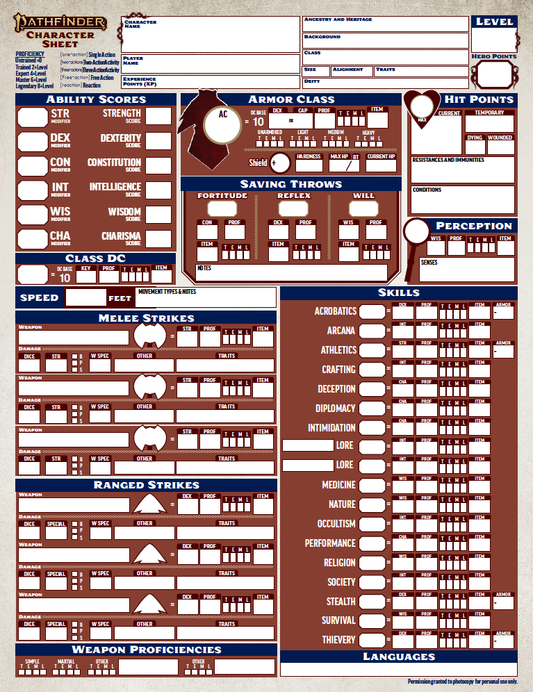 photograph about Pathfinder Character Sheets Printable identified as Heres The Formal Pathfinder 2E Individuality Sheet Morrus