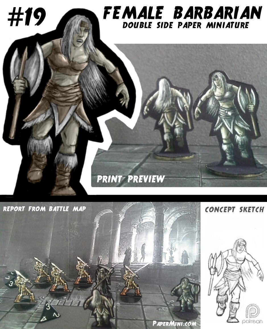 photograph regarding Printable Heroes Patreon named Paper Miniatures for your strategies Morrus Unofficial