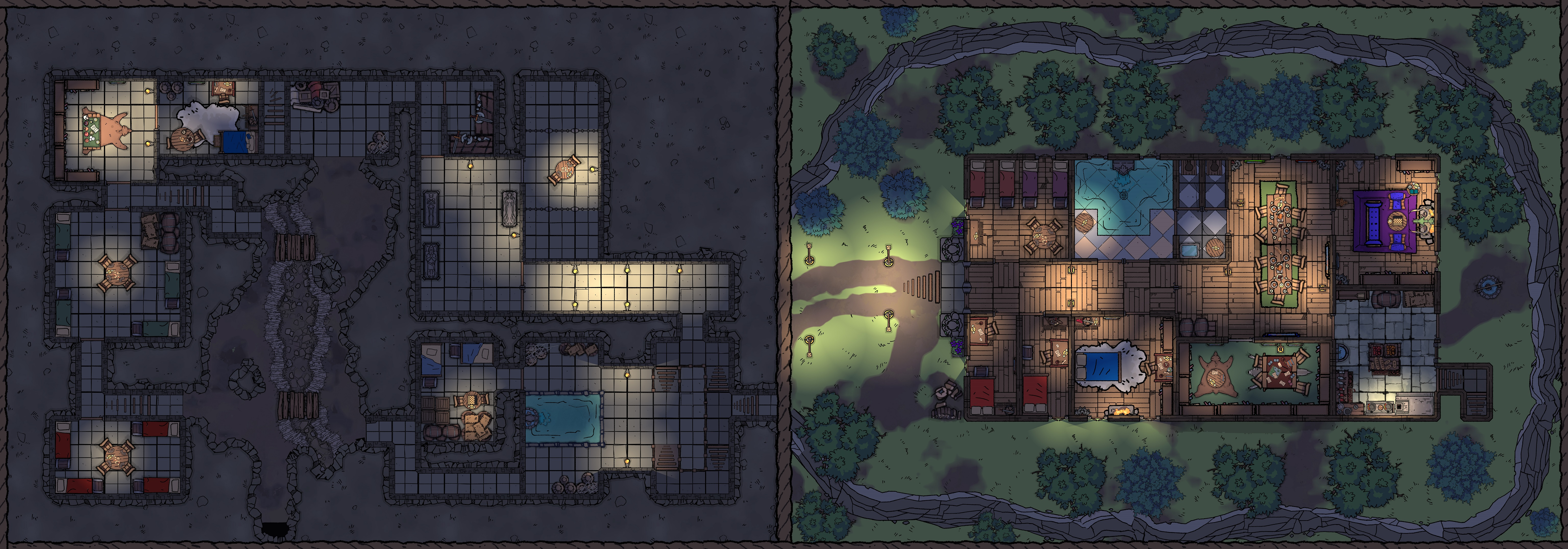 Rebuilt Tresendar Manor and Redbrand Hideout night  no grid 60 x 21 reduced.jpg