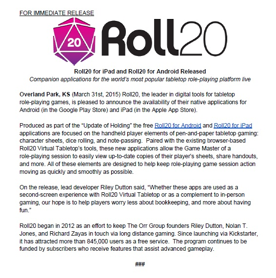 Roll20 Goes Mobile   Morrus' Unofficial Tabletop RPG News