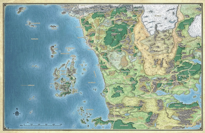 Mike Schley S Massive Forgotten Realms Map From Scag
