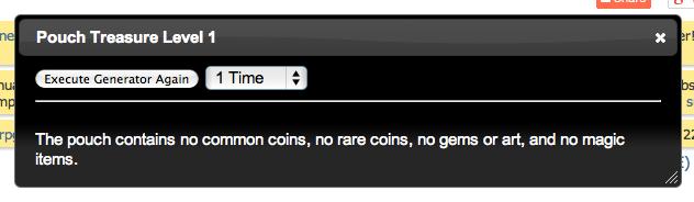 5E - O G R E  Random Treasure Generators | Morrus