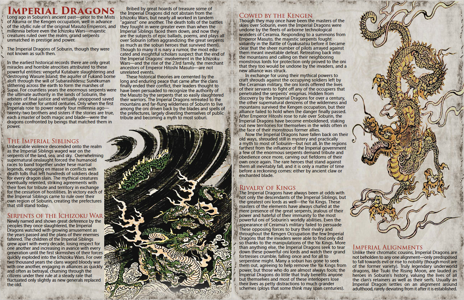 Imperial Dragons Of Eastern Fantasy 5e S Mists Of Akuma