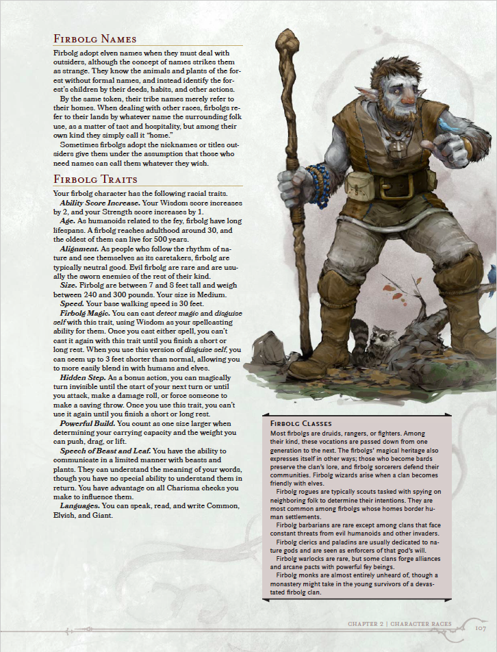 Firbolgs - A PC Race From VOLO'S GUIDE TO MONSTERS | Morrus