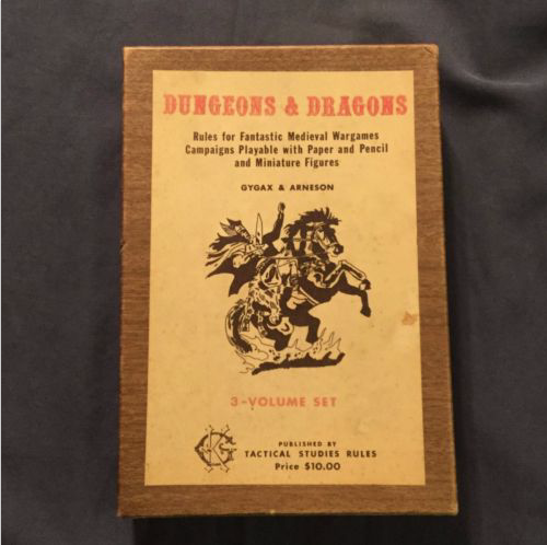 A First Printing Woodgrain D&D Set    If You Can Afford It!