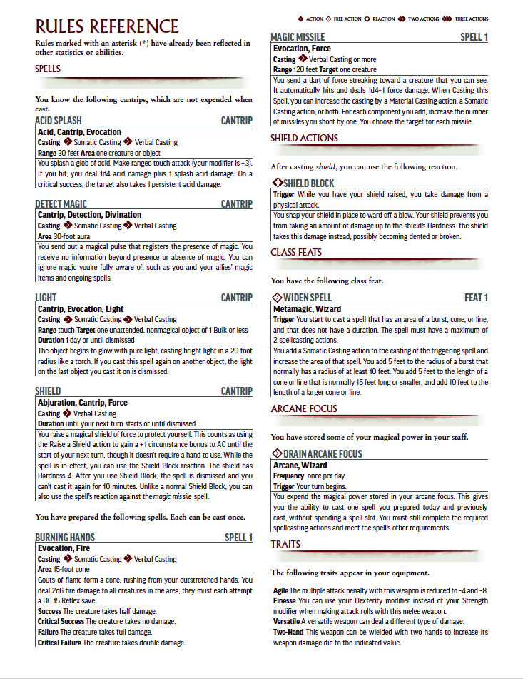 photograph relating to Pathfinder Printable Spell List known as Pathfinder 2 Temperament Sheet #6: Ezren, Human Wizard