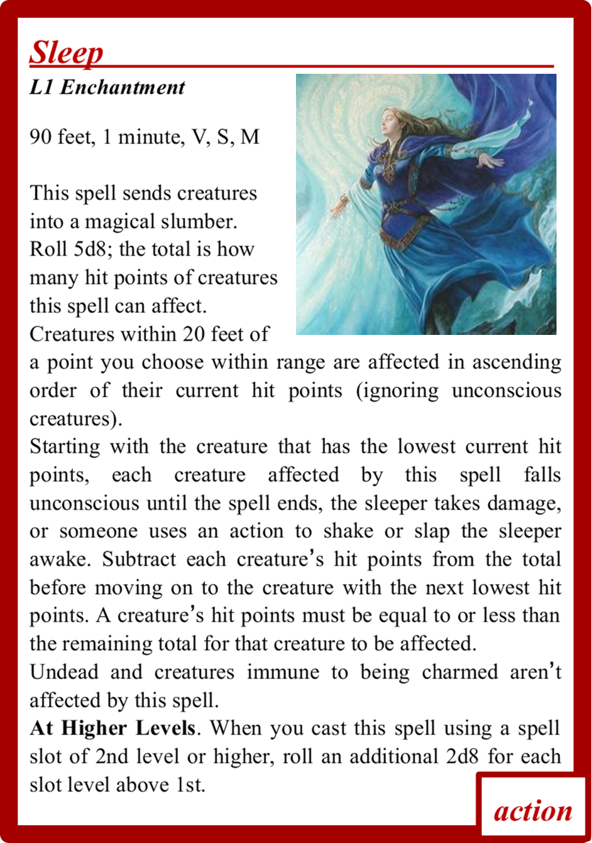 Spell Cards for D&D 5E using Magic Set Editor (MSE)