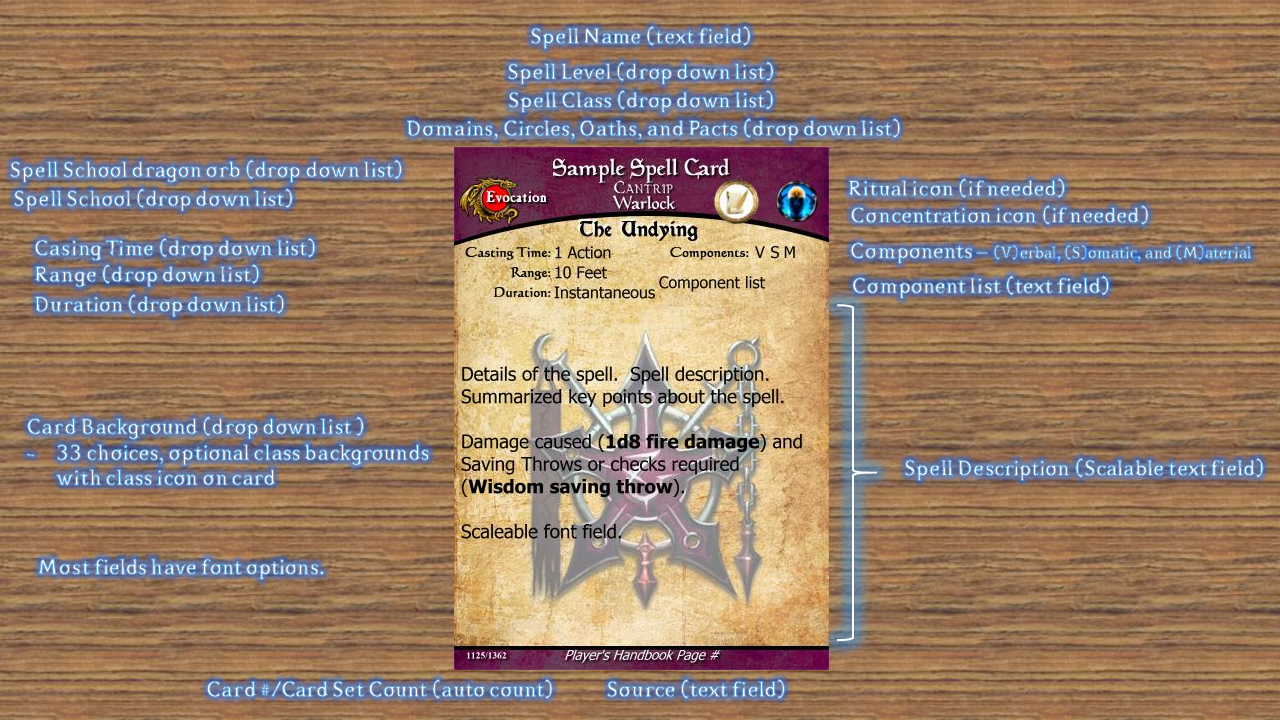 Magic Set Editor Templates   Homebrew Updated Spell Card Template For D D 5e Using Magic Set