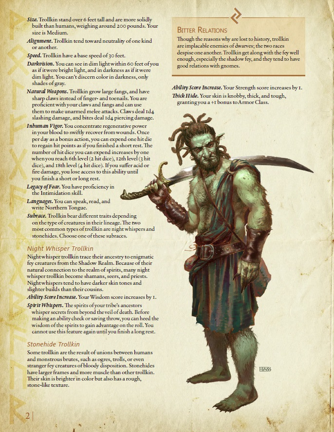 Midgard Heroes For 5e Preview The All New Trollkin Pc Race