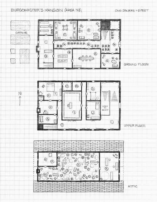 Perkins Map Sketch For Curse Of Strahd S Burgomaster S Mansion