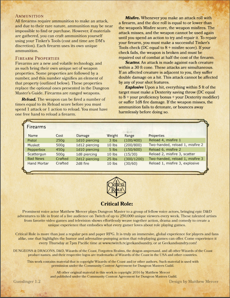 5e Guns In Your World And In Mine Page 2